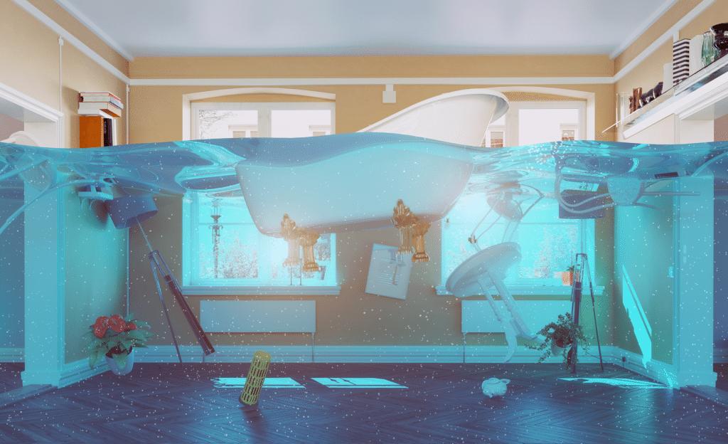 Bestil vandskadeservice med kort ventetid på nettet